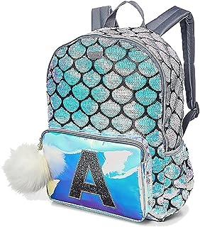 Justice Mermaid School Backpack Letter Initial (C)