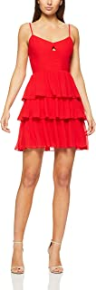 Cooper St Women's Papaya Pleated Mini Dress Papaya Pleated Mini Dress