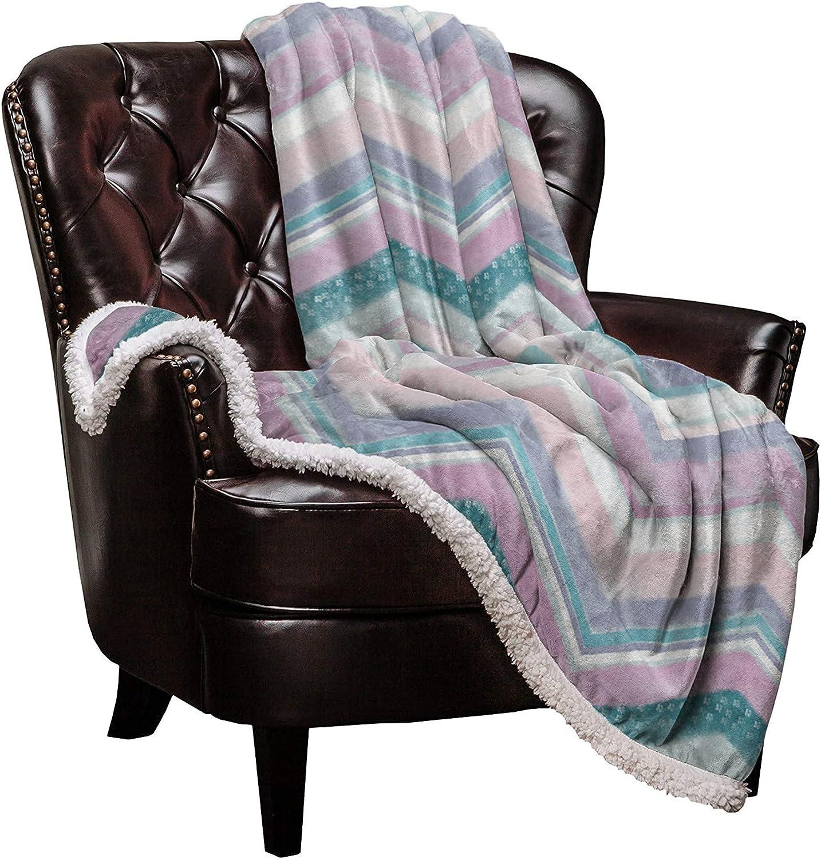 Nippon regular Latest item agency DaringOne Geometric Sherpa Fleece Throw Flannel Blanket Double-