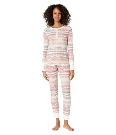 Splendid Cozy Thermal PJ Set (Fireside Fairisle) Women
