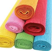 Just Artifacts Premium Crepe Paper Rolls - 8ft Length/20in Width (6pcs, Color: Fiesta)