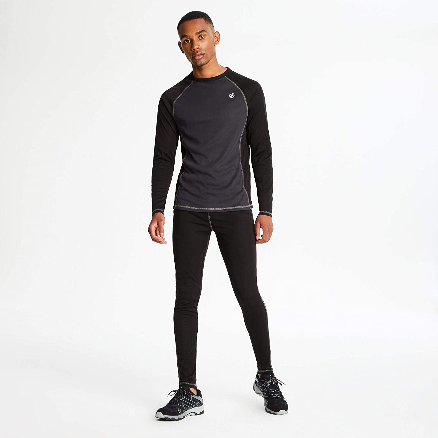 Dare 2b Mens Exchange Fast Wicking /& Quick Drying Anti Bacterial Odour Control Base Layer Legging Pant with Brush Backed Thermal Fabric