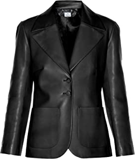 faux leather blazer womens