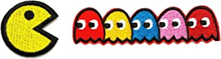 Pac-man ghosts Blinky Pinky Inky Clyde Embroidered Iron On/Sew On Patch