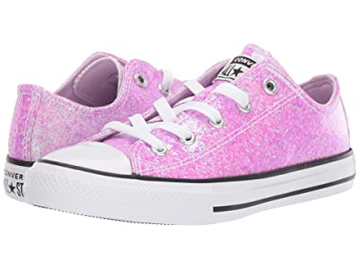 Converse Kids Chuck Taylor(r) All Star(r) Gloss Ox (Little Kid/Big Kid) (Lilac Mist/Black/White) Girls Shoes