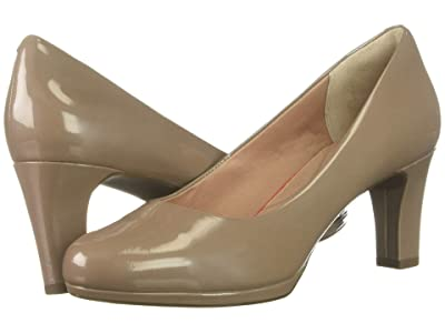 Rockport Total Motion Leah Pump (Dark Taupe Pearl) Women