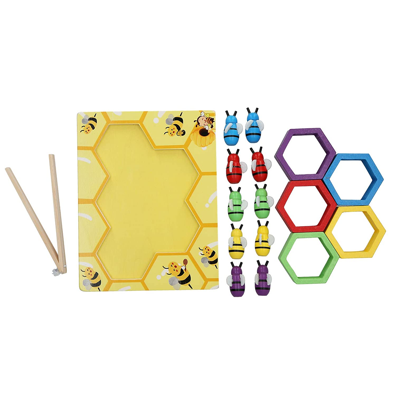 Wooden Bee Game Toy Infant 1 year warranty Boy Durable Matching Max 55% OFF for Sturdy