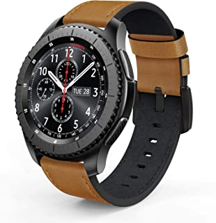 SWEES Leather Bands Compatible for Galaxy Watch 3 45mm & Gear S3 Frontier & Classic and Galaxy Watch 46mm, Genuine Leather...