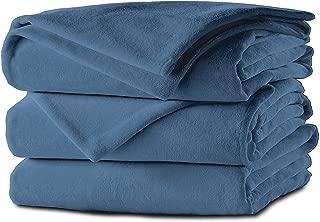 Sunbeam Heated Blanket   Microplush, 10 Heat Settings, Lagoon Blue, Full - BSM9KFS-R531-16A00