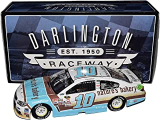 2X AUTOGRAPHED 2016 Danica Patrick & Billy Scott #10 Natures Bakery DARLINGTON THROWBACK Stewart-Haas Dual Signed Lionel 1/24 NASCAR Collectible Diecast Car with COA (#069 of only 709 produced!)