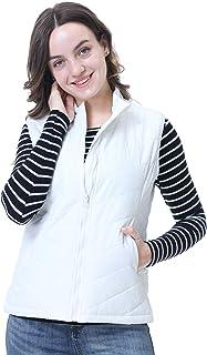 ANIVIVO Women Padded Vest,Lightweight Puffer Vest Women Collar Full-Zip Vest Golf Winter Outerwear Clothes with Pockets