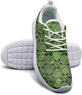 OUL Black Alien Astronaut Play Girl Tennis Snakers, Casual Low top Snakers for Women's