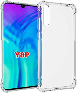Crystal Clear Case for Huawei Y8P 2020 / P Smart S/Enjoy 10S Case, Flexible and soft TPU Four Corners Transparent hard Cle...