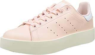 adidas Originals Womens Stan Smith Bold Platform Lace Up Low Rise Trainers Pink