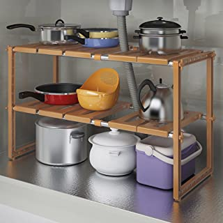 QFF Estante del fregadero de la cocina / estante de almacenaje de múltiples funciones / retráctil acero inoxidable ( Colo...