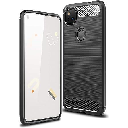 Google Pixel 4A ケース Freesun Google Pixel 4A TPU保護 ソフト シリコン カバー おしゃれ 薄型 耐衝撃 高級感 柔らかい手触り スマホケース(ブラック)