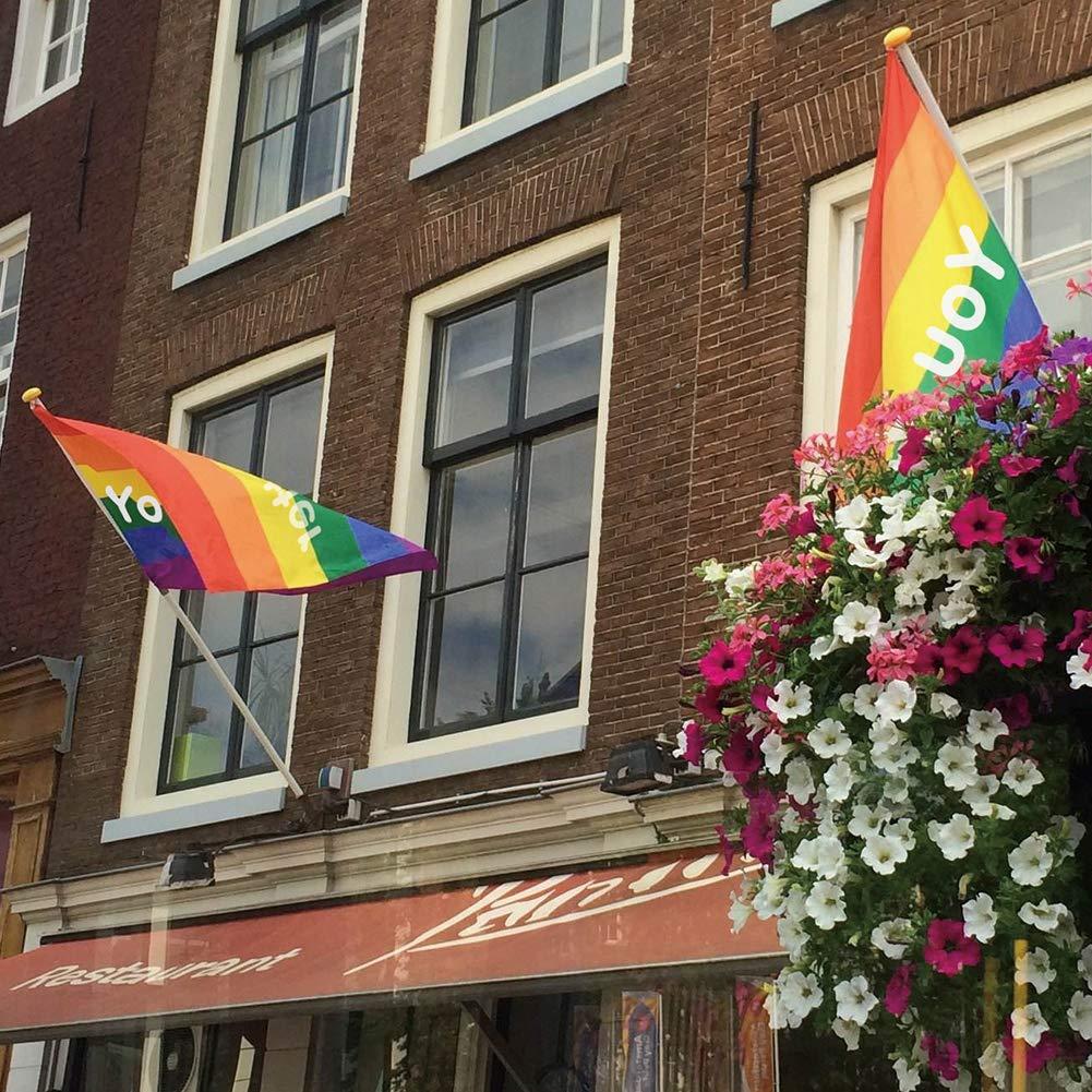 Banderas Orgullo Gay - You Matter - Arco Iris Bandera LGBT, 3 x 5 pies: Amazon.es: Jardín