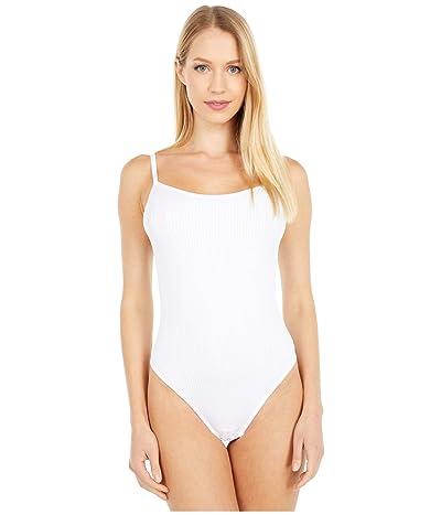Yummie Crystal Ribbed Cami Bodysuit (White) Women