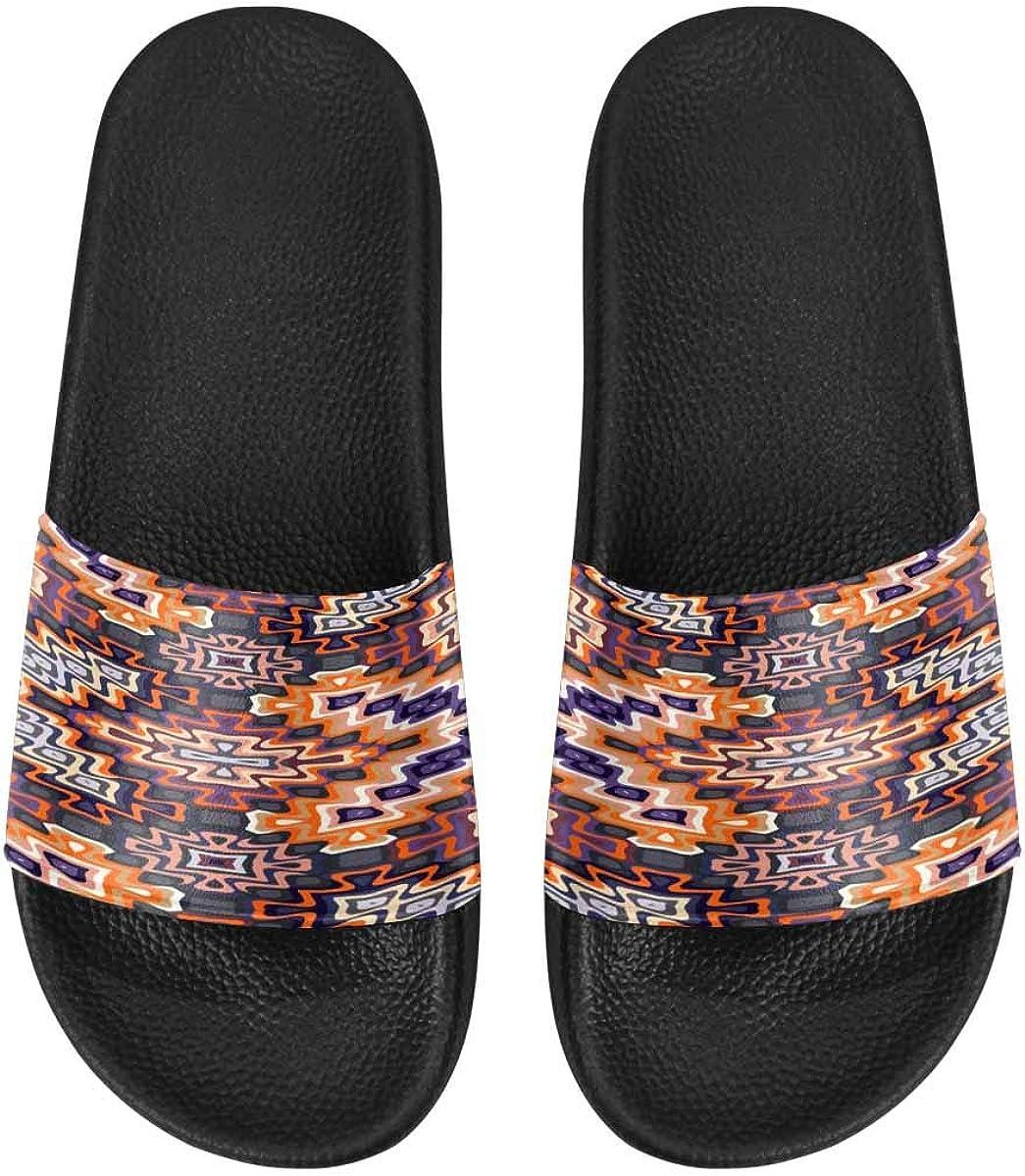 InterestPrint Outdoor Stylish Sandals Slides for Women Art Tribal Pattern