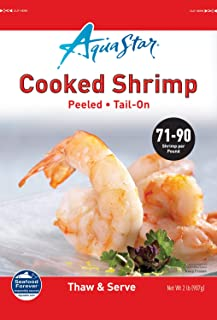 Aqua Star, Cooked Peeled Tail-on Shrimp, 71-90ct, 2 lb (Frozen)