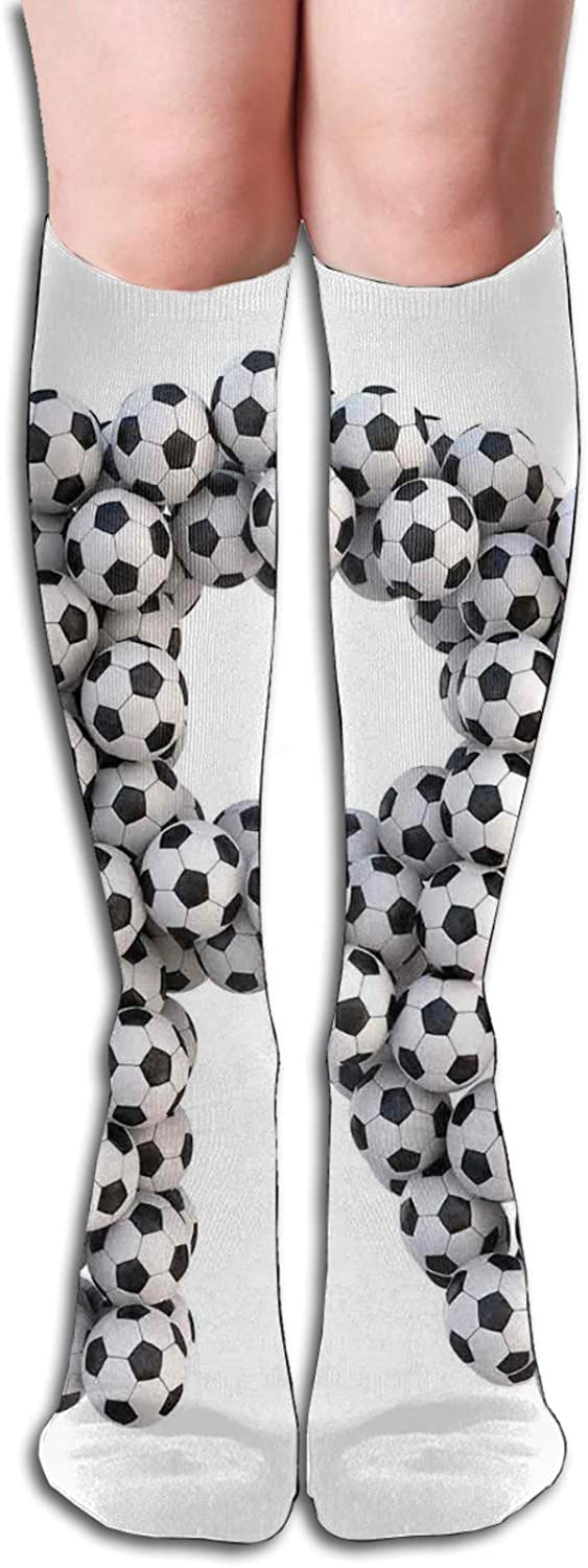 Compression High Socks-Soccer Themed Pattern D Alphabet Abstract It Super beauty product restock quality top! is very popular