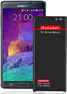 Note 4 Battery Acevan 3450mAh Li-ion Replacement Battery for Samsung Galaxy Note 4 N910, Verizon N910V, AT&T N910A, Sprint N910P, T-Mobile N910T, N910F, N910U LTE, Note4 Spare Battery