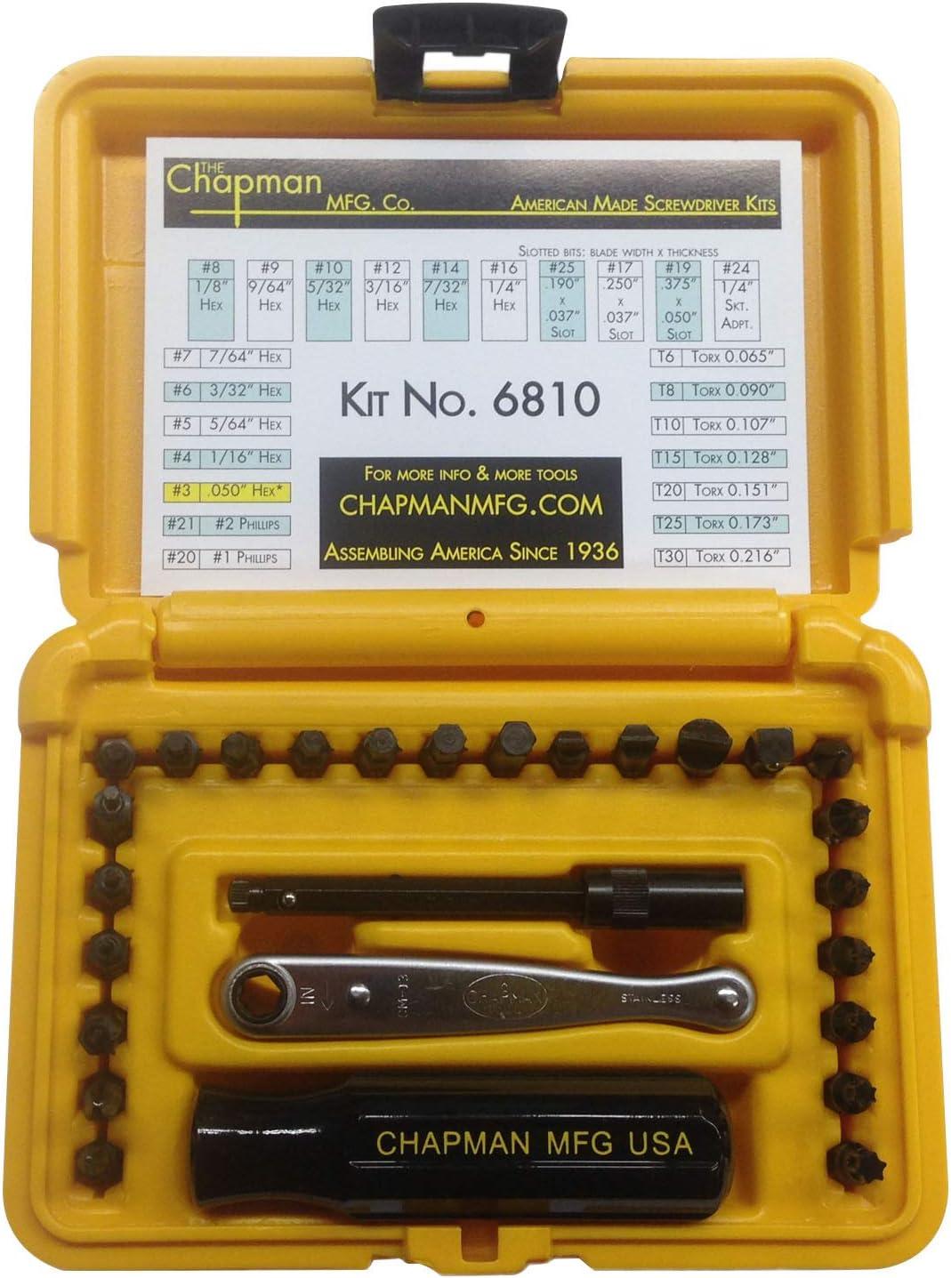 Chapman MFG Max 84% OFF 6810 Standard +Star Screwdriver Pieces - 27 Award Set In