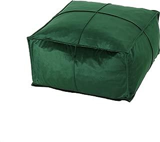 Christopher Knight Home Cytheria Emerald Velvet Square Bean Bag Ottoman