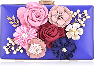 3e5550f698 Women Flower Clutches Handbags Evening Bags Prom Party Wedding Cocktail  Clutch Purses with Pearls Beaded