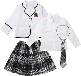 inhzoy Disfraz de Escolar Japónes para Niña Chica Uniforme de Colegiala Chaqueta Blusa Falda de Escuela Estilo Coreano Cos...