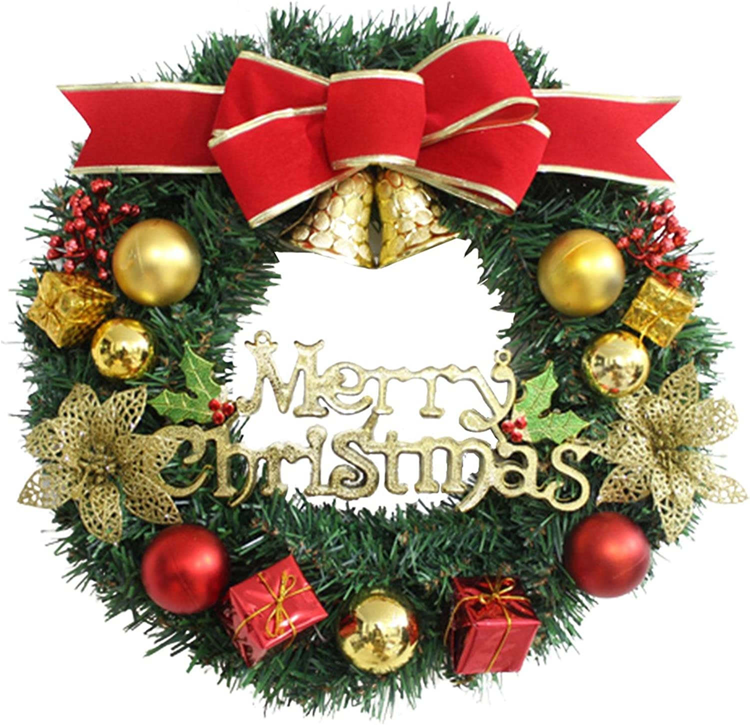 BWWNBY 30cm Christmas Wreath Super beauty product restock quality top Door Limited time sale Front Decoration Hangi