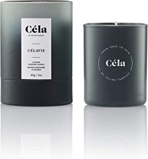 Céla Célavie Soy Candle, Relaxing Sea Salt/Sage Essential Oil Scented Candle