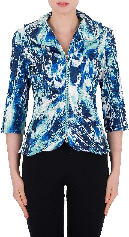Joseph Ribkoff bluee Multi Jacket Style 191759