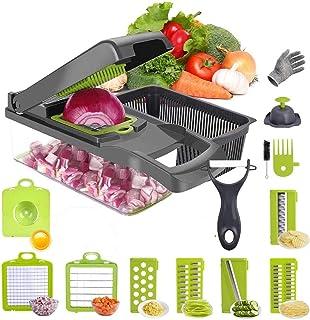 Yingji Vegetable Slicer Vegetable Chopper - Onion chopper Slicer Dicer - Food chopper Vegetable Dicer - Pro Vegetable Cutt...