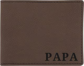 Gifts for Dad or Grandpa or Uncle Laser Engraved Leatherette Bifold Wallet