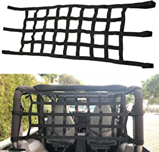 buyinhouse Cargo Net Extra Storage Restraint Fit for Jeep Wrangler TJ JK 1997-2017