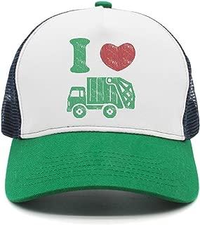 I Heart Love Trash Garbage Truck Man Popular mesh Cap Sport Hat Snapback Hat