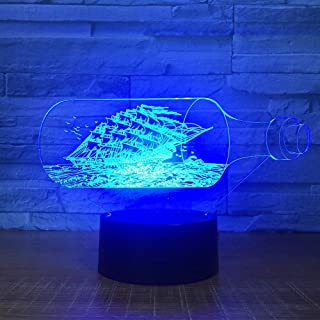 Black Pearl Barco Barco illusion night light hogar decoración para-16 colores cambiantes-Base negra