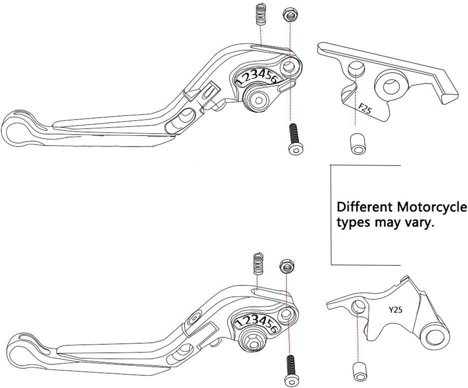 Motorcycle Adjustable Folding Extendable Brake Clutch Levers Accessories For H-ond-a CB1300//ABS CB 1300 ABS 2003-2010 Brake Levers Color : A set