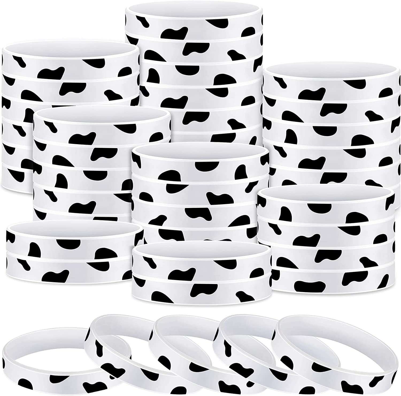 Limited time trial price Popular standard Cow Print Rubber Bracelets Slap Party Bracelet Cut for