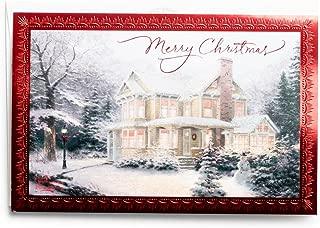 Christmas Boxed Cards - Thomas Kinkade - Snowy Home
