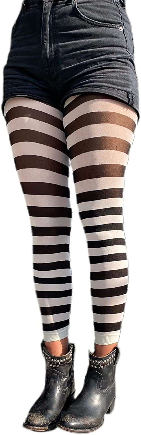 Striped Footless Tights for women