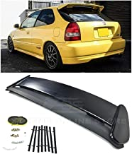 Extreme Online Store for 1996-2000 Honda Civic EJ6 3Dr Hatchback | EOS JDM Type-R Style ABS Plastic Primer Black Rear Roof Top Wing Spoiler CTR EK9 Si Type-R