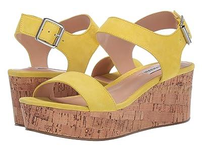 Steve Madden Breathe Wedge Sandal (Yellow Suede) Women