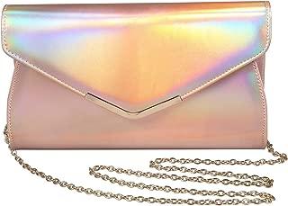 Iridescent Leather Evening Bag Clutch Handbag With Shoulder Strap for Girls Party Wedding Purse Crossbody Bag