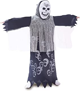 Scary Ghost Costume Toddler, Halloween See Ghost Cape Kid Danger Costumes Set Gift for Boys&Girls (M, White Ghost)