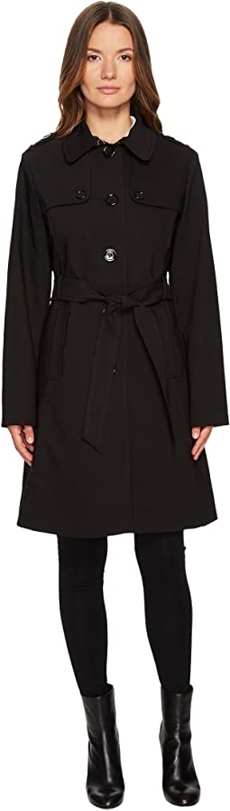 Kate Spade New York - Rain Tie Waist Fit and Flare Trench Coat