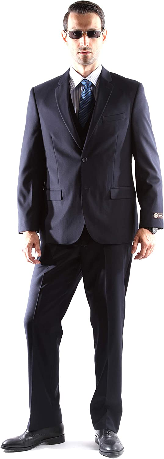Men's Single Breasted 2 Button Superior 150s Extra Fine Dress Suit