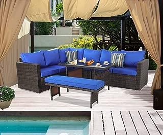 blue patio furniture