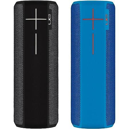Ultimate Ears Boom 2 Doppelpack Tragbare Bluetooth Lautsprecher 360 Sound Wasserdicht App Gesteuert Kann Mit Weiteren Boom 2 Gepairt Werden 15 Stunden Akkulaufzeit 1 X Schwarz 1 X Blau Audio Hifi